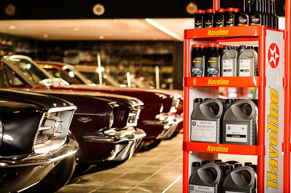 Mustang garage for Havoline/Texaco shoot.